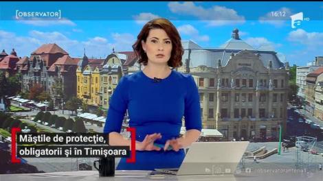Măștile de protecție, obligatorii în Timișoara