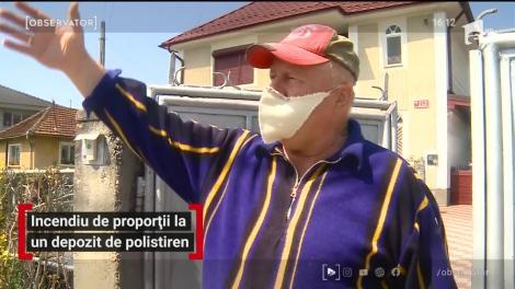 Incendiu de proporții la un depozit de polistiren din Baia Mare