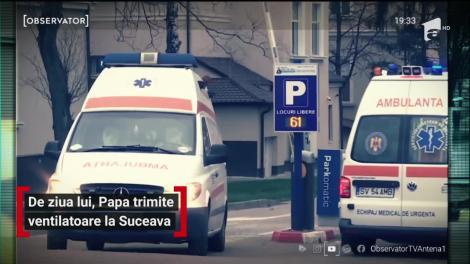 De ziua lui, Papa Francisc trimite ventilatoare la Suceava