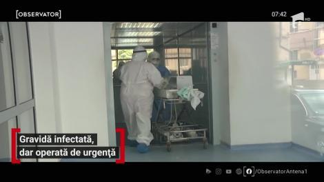 """O gravidă infectată cu COVID-19, operată de urgență, la Iași! Ce s-a întâmplat cu bebelușul, imediat după naștere. Medic: """"Sunt emoţii şi pentru noi"""" - VIDEO"""