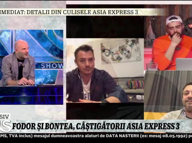 """Fodor şi Bontea, detalii din finala Asia Express: """"A fost o diferenţă de 20 de minute între noi şi Speak şi Ştefania"""""""