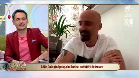Călin Goia și cățelușa lui Zorica, activități de izolare: Îmi este foarte dor de scenă!