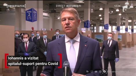 Klaus Iohannis a vizitat spitalul-suport pentru COVID-19