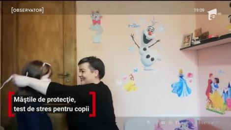 Măştile de protecţie, test de stres pentru copii