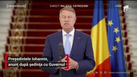 Președintele Iohannis, anunț după ședința cu Guvernul: Școlile rămân închise până în septembrie
