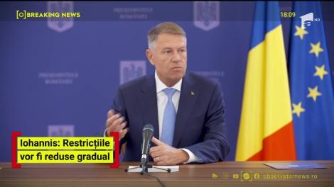 """Președintele Klaus Iohannis, prima conferință de presă de la declanșarea pandemiei. Ce se întâmplă după 15 mai: """"Vor rămâne multe restricții în vigoare"""""""