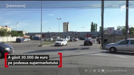 Un tânăr din Timișoara a găsit 30.000 de euro pe podeaua supermarketului în care lucrează