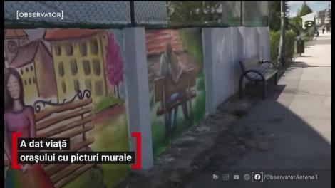 Un artist din Râmnicu Vâlcea şi-a făcut o misiune din a colora oraşul cu picturi stradale