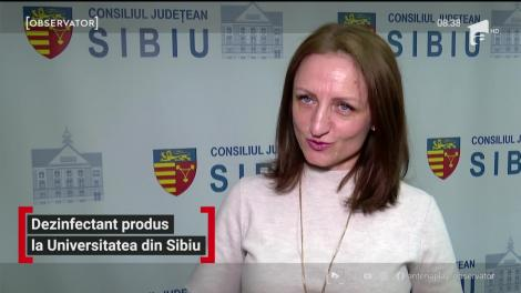 Dezinfectant produs Universitatea Lucian Blaga din Sibiu