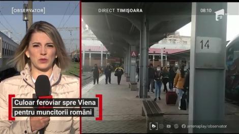 Culoar feroviar spre Viena pentru muncitorii români