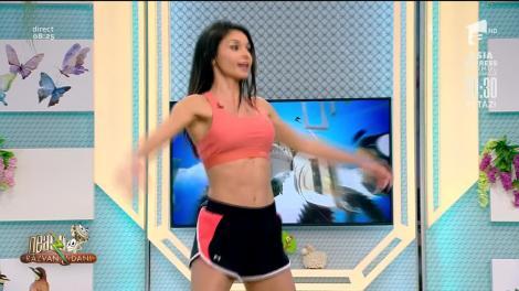 Fitness cu Diana Stejereanu, la Neatza. Antrenament cardio și tonifiere