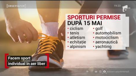 Liber la sport individual în aer liber