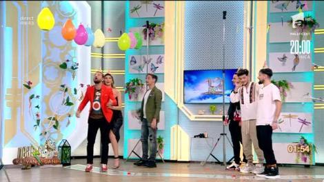 """Râzi cu lacrimi, nu glumă! Concurs cu baloane la Neatza cu Răzvan și Dani, alături de băieții de la Noaptea Târziu: """"O vrem pe Ramona în echipă, e mai puternică!"""""""