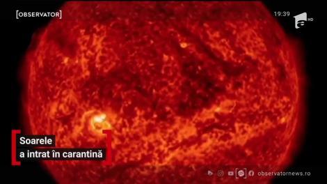 """Soarele a intrat şi el în """"carantină"""" şi trece printr-o perioadă numită de NASA """"mare minim solar"""""""