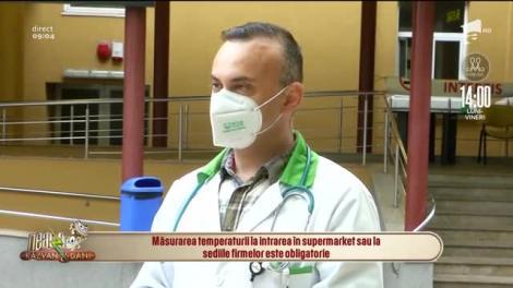 """Doctorul Adrian Marinescu a vorbit despre rolul termoscanării! """"Este strict pentru orientare, e un filtru!"""""""