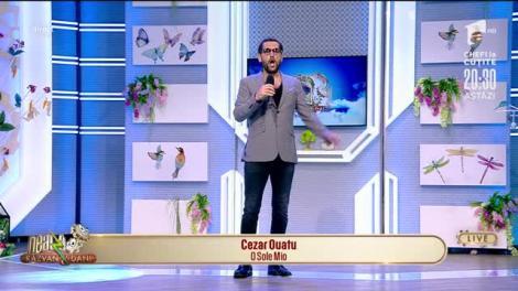 """Cezar Ouatu cântă, LIVE la Neatza, melodia """"O Sole Mio"""""""
