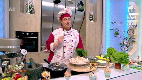 Rețeta lui Vlăduț de la Neatza cu Răzvan şi Dani. Salata pescarului, un preparat delicios pentru toți iubitorii de fructe de mare