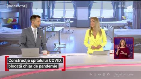 Construcția spitalului COVID din Iași, blocată chiar de pandemie