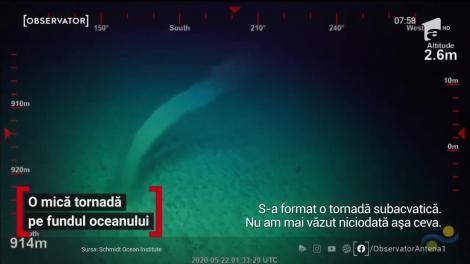 O misterioasă tornadă subacvatică s-a format în largul coastelor Australiei. O sondă fără pilot a surprins momentul de pe fundul mării