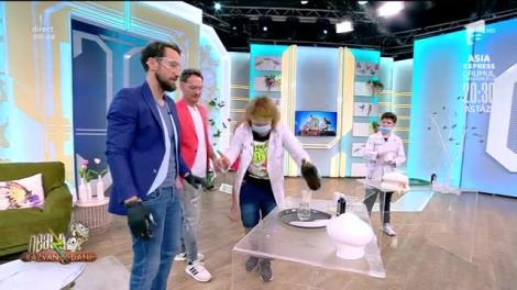 Experimente distractive! Profesorul Trăsnit și ajutoarele lui, creează un nor în direct la Neatza cu Răzvan și Dani!