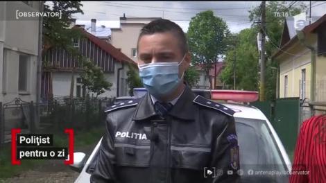 """""""Sunt un polițist fericit!"""". Ionuț a primit un cadou special, de Ziua Copilului! A fost om al legii, pentru o zi! VIDEO"""