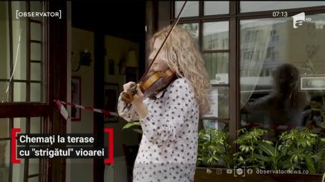 Muzică la vioară în sprijinul antreprenorilor afectaţi de criza de coronavirus