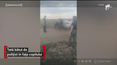 """Oprit din drum, pus la pâmânt și bătut, în fața soției și copilului. De la ce a pornit conflictul cu polițistul și cei trei jandarmi! """"Pleacă, mă, de aici!"""" - VIDEO"""