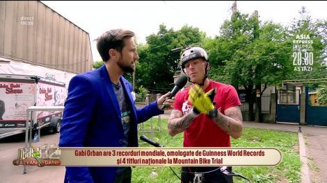 Gabi Orban, deţinător de record mondial Guinness face demonstrații de sărituri cu bicicleta la Neatza cu Răzvan și Dani! Este de-a dreptul spectaculos!