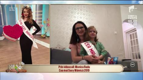 Monica Radu, câștigătoarea titlului de Cea mai Sexy Mămică 2019, in direct, la Neatza!