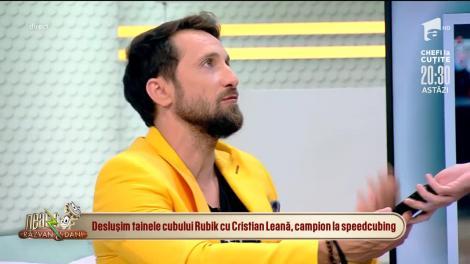Cristian Leană, demonstrație de rezolvarea a cubului rubik