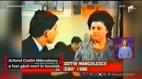 A murit Costin Mărculescu. Actorul a fost găsit fără suflare în locuință