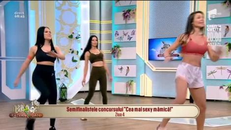 Imagini interzise cardiacilor! Trei mămici super sexy au făcut spectacol la Neatza, cu exercițiile de fitness ale Dianei Stejereanu