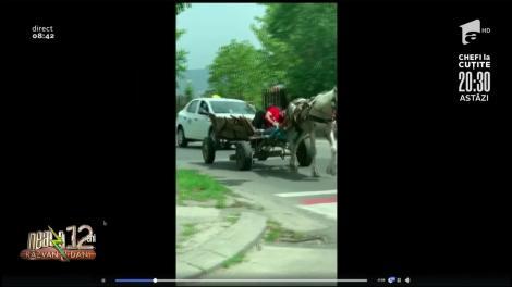 """Smiley News: Un bărbat şi-a pus căruţa pe """"pilot automat"""" şi a tras un pui de somn până la destinaţie"""