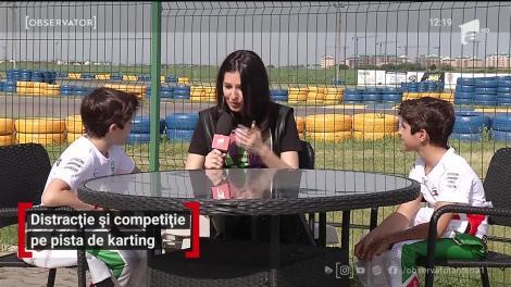 Bogdan şi David, campioni la karting, provocare pentru idolul lor, Cuza