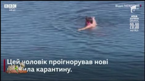 Smiley News: Un ucrainian a fost săltat de poliție pentru că a făcut baie în mare