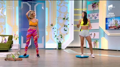 Ramona, simți cum lucrează fesierul? Cel mai tare antrenament full body cu Diana Stejereanu! |VIDEO