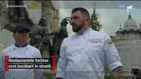 Restaurantele închise scot bucătarii în stradă