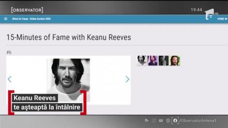 Keanu Reeves s-a scos la licitaţie! Care este prețul unei întâlniri cu marele actor! |VIDEO