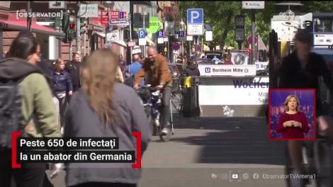 Peste 650 de infectați cu noul coronavirus la un abator din Germania. Angela Merkel urmăreşte îndeaproape evoluţia pandemiei