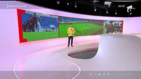 Stadionul din Târgu Jiu, transformat în scenă de absolvire