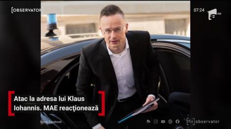 Atac la adresa lui Klaus Iohannis. MAE reacționează