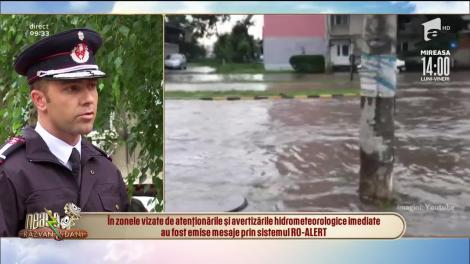 Pericol de inundații în șapte județe