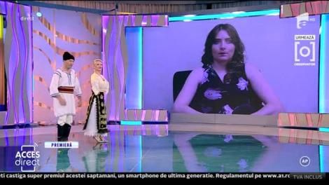 Viorel și Liliana cântă melodia Așa-i sârba din Blăgești, la Acces Direct