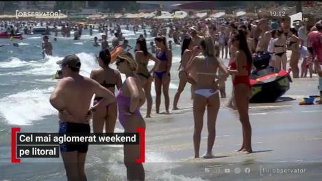 Litoralul românesc din ce în ce mai aglomerat de turiști