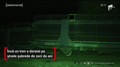 Încă un tren a deraiat pe șinele șubrede de zeci de ani