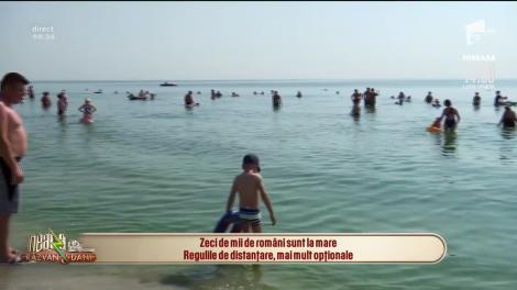 Zeci de mii de români sunt la mare. Regulile de distanțare, mai mult opționale