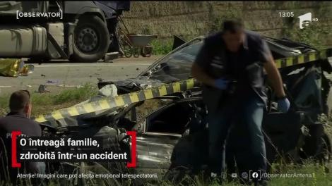 O familie întreagă, zdrobită într-un accident pe centura oraşului Cluj-Napoca