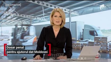 Dosar penal pentru ajutorul dat Republicii Moldova