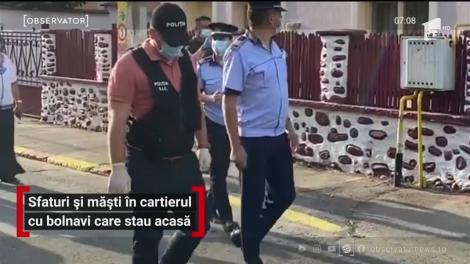 Sfaturi și măști de protecție în cartierul din Târgu Jiu cu bolnavi care stau acasă
