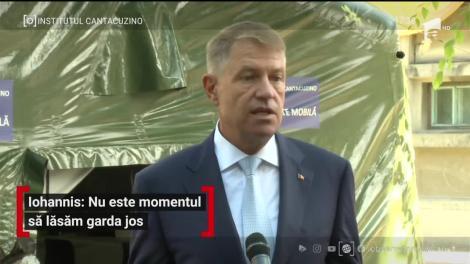 Klaus Iohannis, declarații după vizita la Institutul Cantacuzino